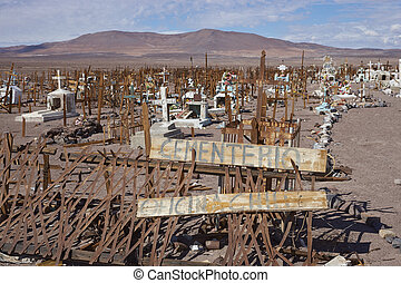 Graveyard in the Atacama - Historic graveyard in the Atacama...