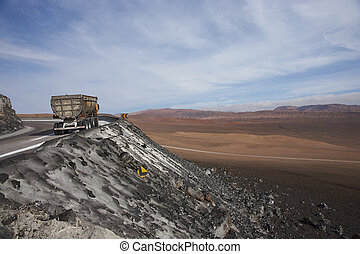 Mining in the Atacama - Empty truck heading towards the salt...
