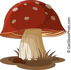 Magic Mushroom - Illustration of magic mushroom