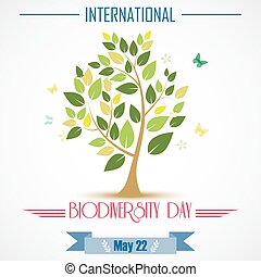 Abstract trees for Biodiversity - Vector illustration of...