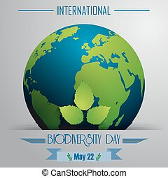 Biodiversity international day - Vector illustration of...