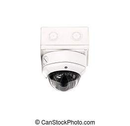 CCTV security isolated white background.