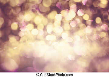 Abstract bokeh lights for background - Beautiful abstract...
