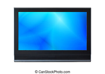 LCD Television monitor isolated on