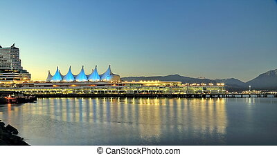 Canada Place Vancouver British Columbia night time