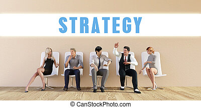 Business Strategy Being Discussed in a Group Meeting