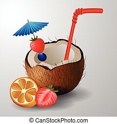 Exotic coconut cocktail