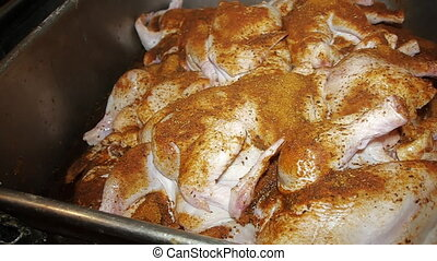 chicken with spe lies cup chicken cooking delicious dish juicy delicious roast bird breakfast lunch dinner raw poultry for cooking