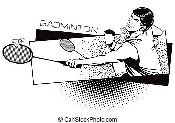 Summer kinds of sports. Badminton