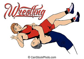 Summer kinds of sports. Wrestling