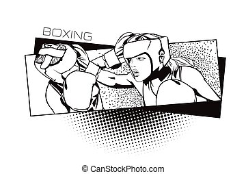 Summer kinds of sports. Boxing