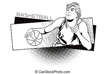 Summer kinds of sports. Basketball