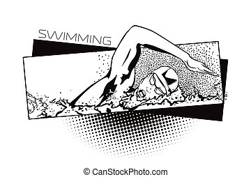 Summer kinds of sports Swimming