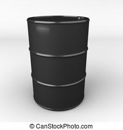 aceite, tambor, interpretación, barril, o,  3D
