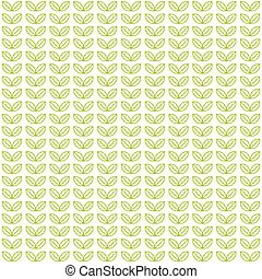 Seamless light pattern with green tea leaves - Seamless...