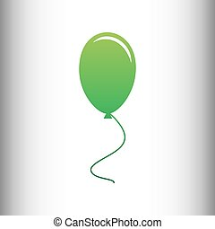 Balloon sign. Green gradient icon