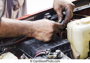professional automotive motor mechanic repair and inspecting