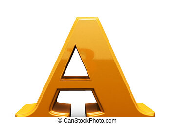 Letters sign. Alphabet. - Letter figures. Letters ABC....
