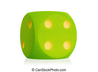 Large green foam die isolated - 4 - Large green foam die...