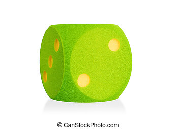 Large green foam die isolated - 2 - Large green foam die...