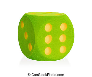 Large green foam die isolated - 6 - Large green foam die...