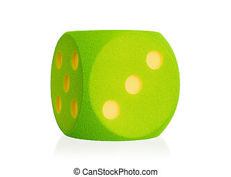 Large green foam die isolated - 3 - Large green foam die...