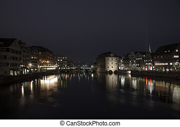 Amazing night scenes from Zurich, Switzerland