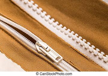 Coat with zipper - Garment coat with zipper, close up shot