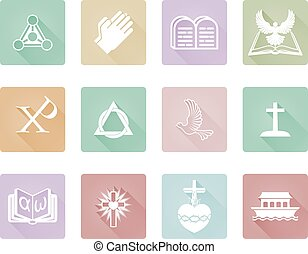 Christian Icons - A set of Christian icons and symbols...
