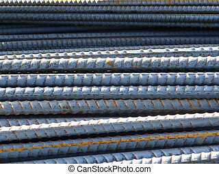 Rebar Stock - Reinforcing rod or bar stacked in a pile.