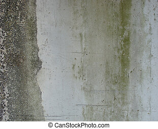 dirty gray green wall