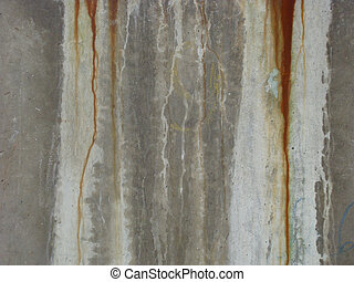 dirty gray green wall rusty dirt