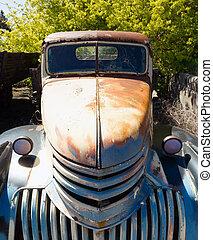老, 卡車, 被放棄, 生鏽, 美國人, 汽車, Junkyard,...