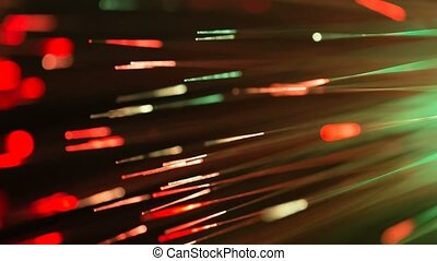 blinking optical fibres abstract bl - blinking bunch of...