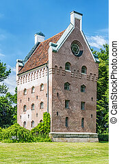 Borgeby Castle Tower - An image of the medieval buildings of...