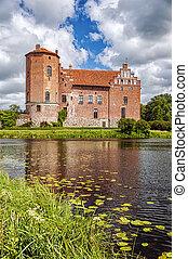 Torups Castle with Reflection - Torups slott is a castle in...