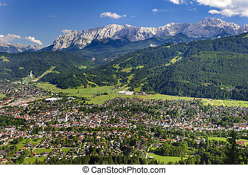 city Garmisch-Partenkirchen in Germany - city...