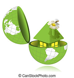 House in globe