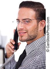 closeup on business man