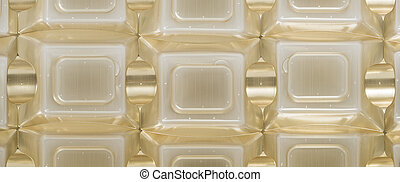 Background with geometric pattern, squares and curved lines