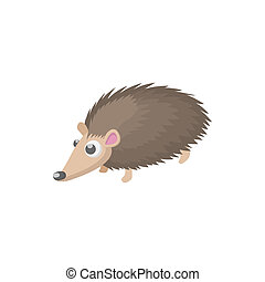 Hedgehog icon, cartoon style - Hedgehog icon in cartoon...