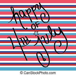 Happy 4th of July Stripes