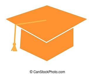 Orange Graduation Cap