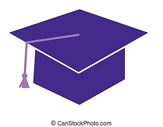 Purple Graduation Cap