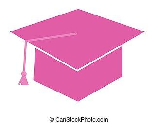 Pink Graduation Cap