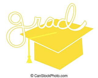 Yellow Grad Cap