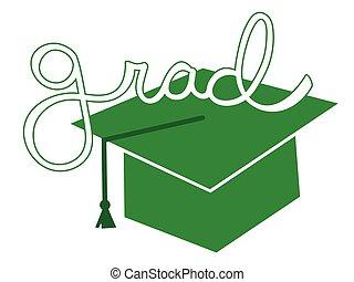 Green Grad Cap