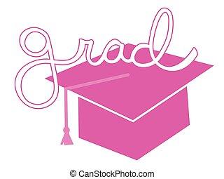 Pink Grad Cap