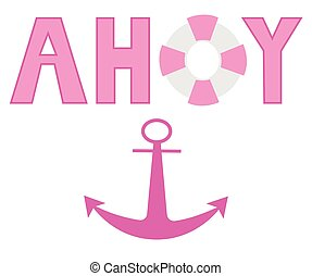 Pink Ahoy Anchor