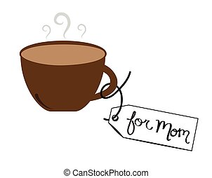 Coffee For Mom Tag